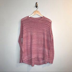 Lou & Grey Red Knit Lightweight Sweater Shirt S